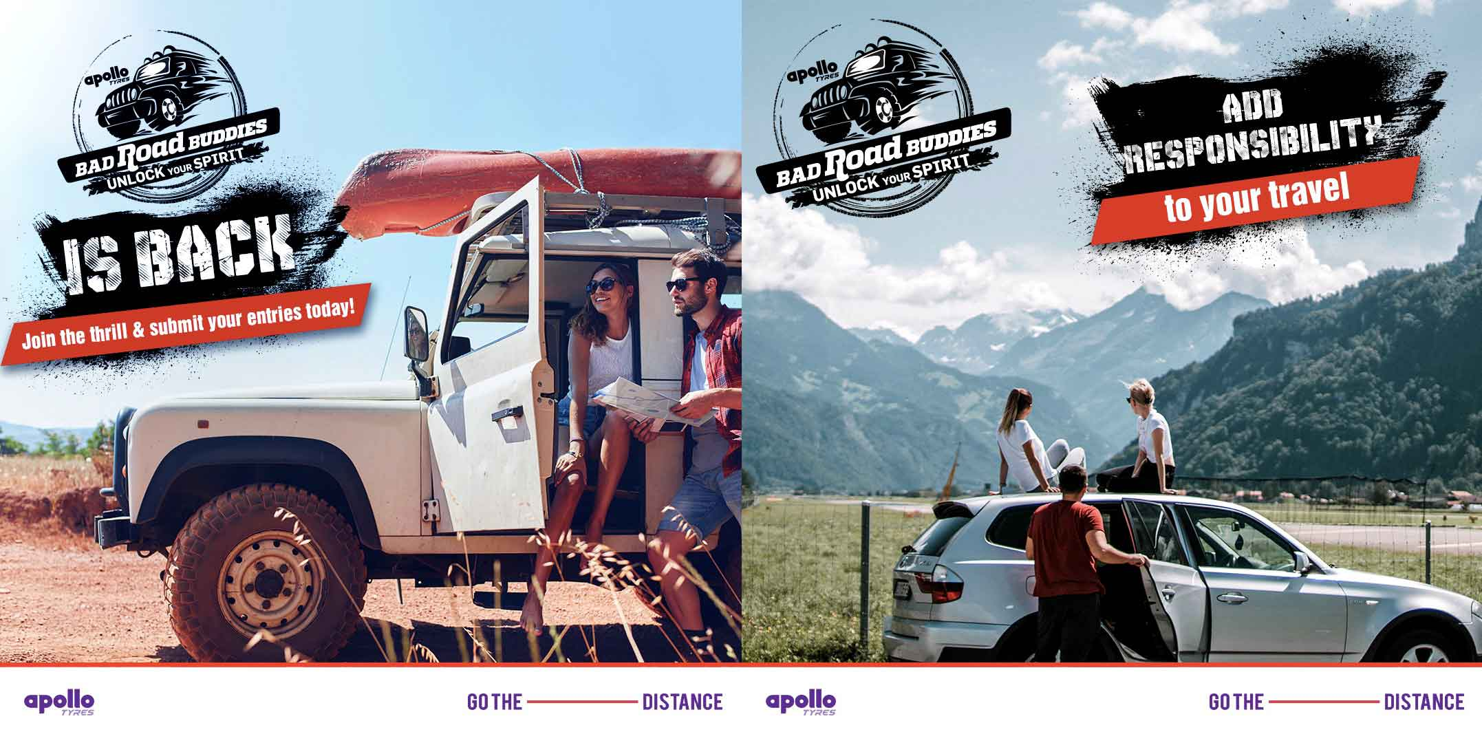 Apollo Tyres is back with #BadRoadBuddies