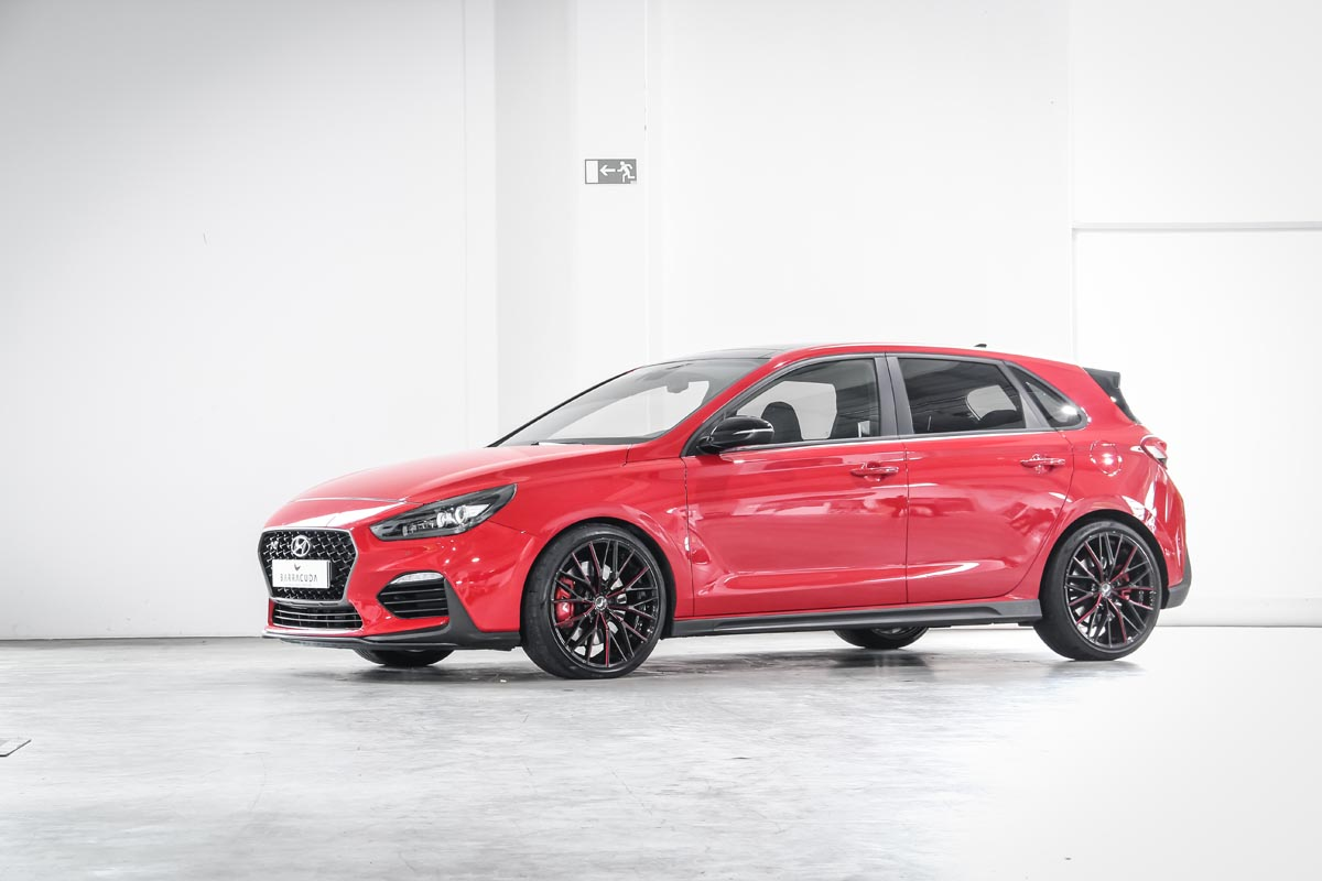 Barracuda Racing Wheels Europe Project 3.0 wheels on the hot hatch Hyundai i30 N