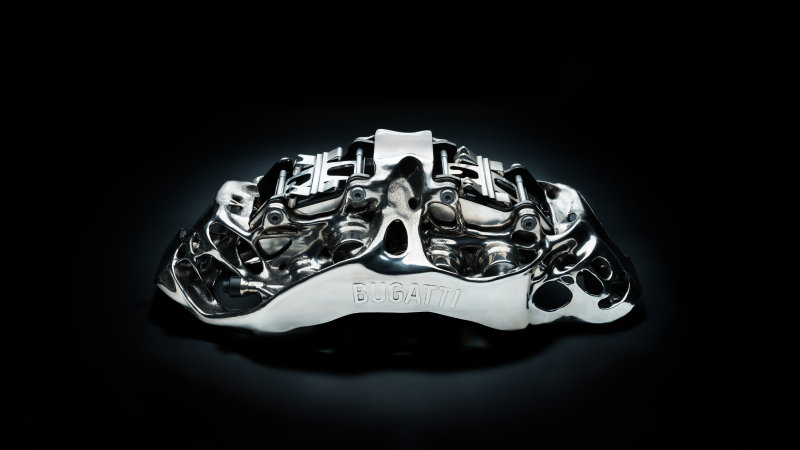 Bugatti Chiron Likely to Get 3D-printed Titanium Brake Calipers