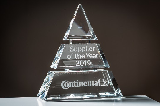 """Continental awarded """"Supplier of the Year 2019"""" Awards for outstanding performance"""