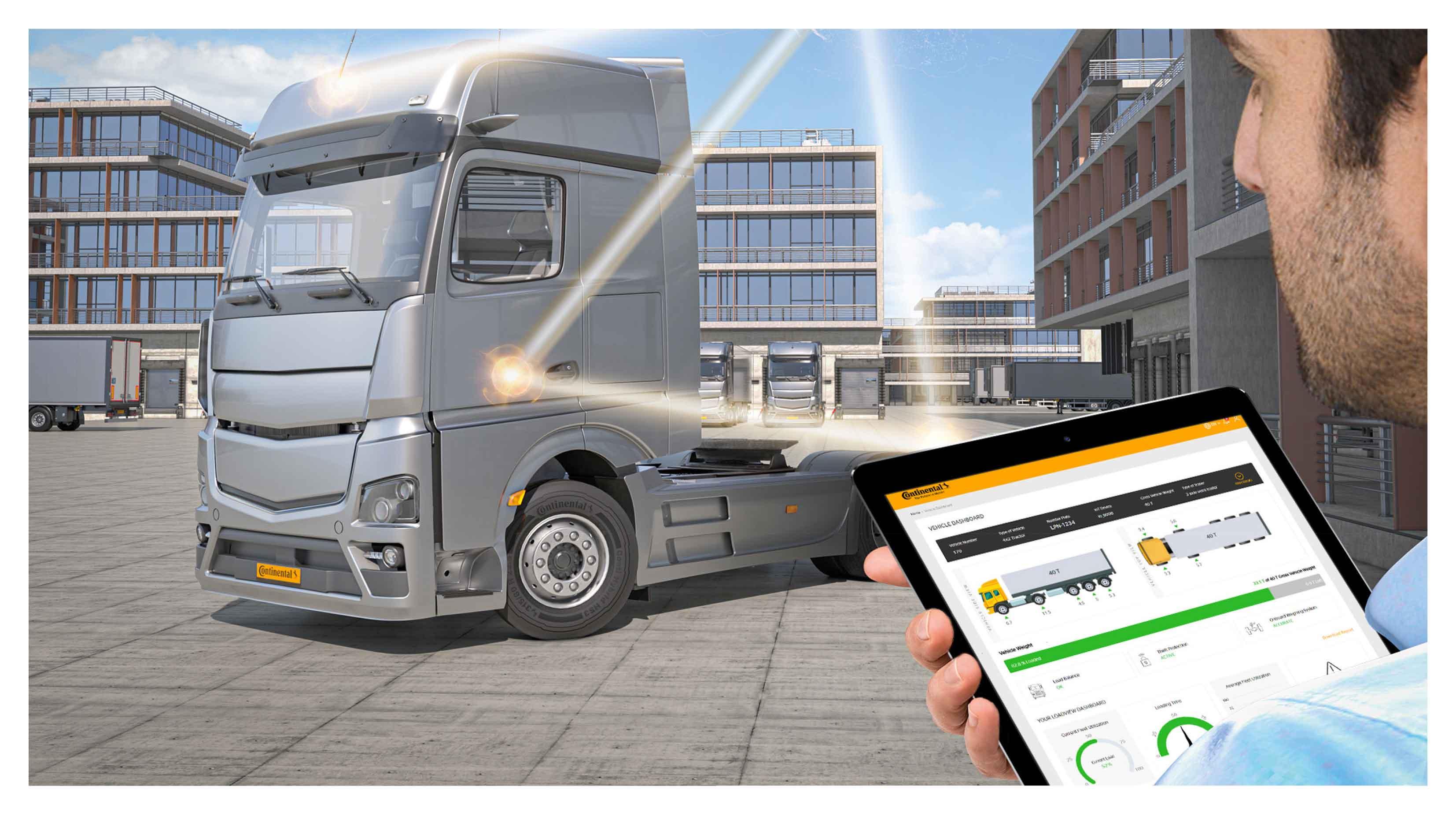 Continental Develops Sensor-based Digital Load Monitoring for Commercial Vehicles