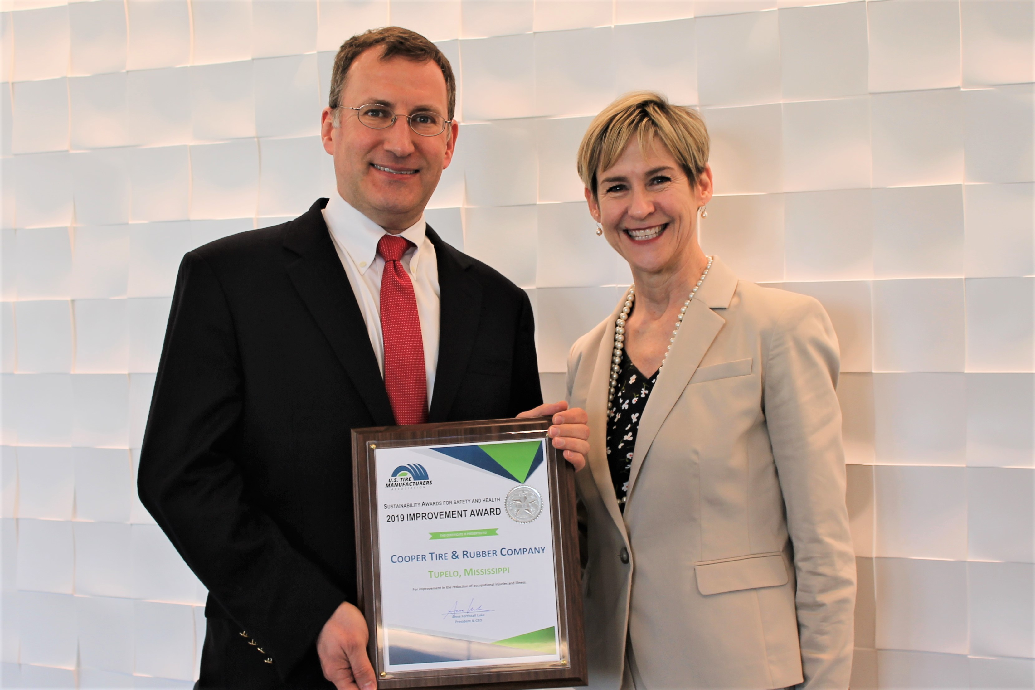 Cooper Plant Earns USTMA Sustainability Award