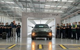 Aston Martin celebrates milestone moment as first DBX drives off the production line