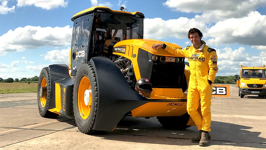 BKT Develops Special Tire for Record Breaking Tractor
