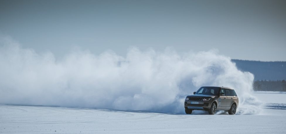 Land Rover Uses Snow Art to Celebrate Golden Jubilee of Range Rover