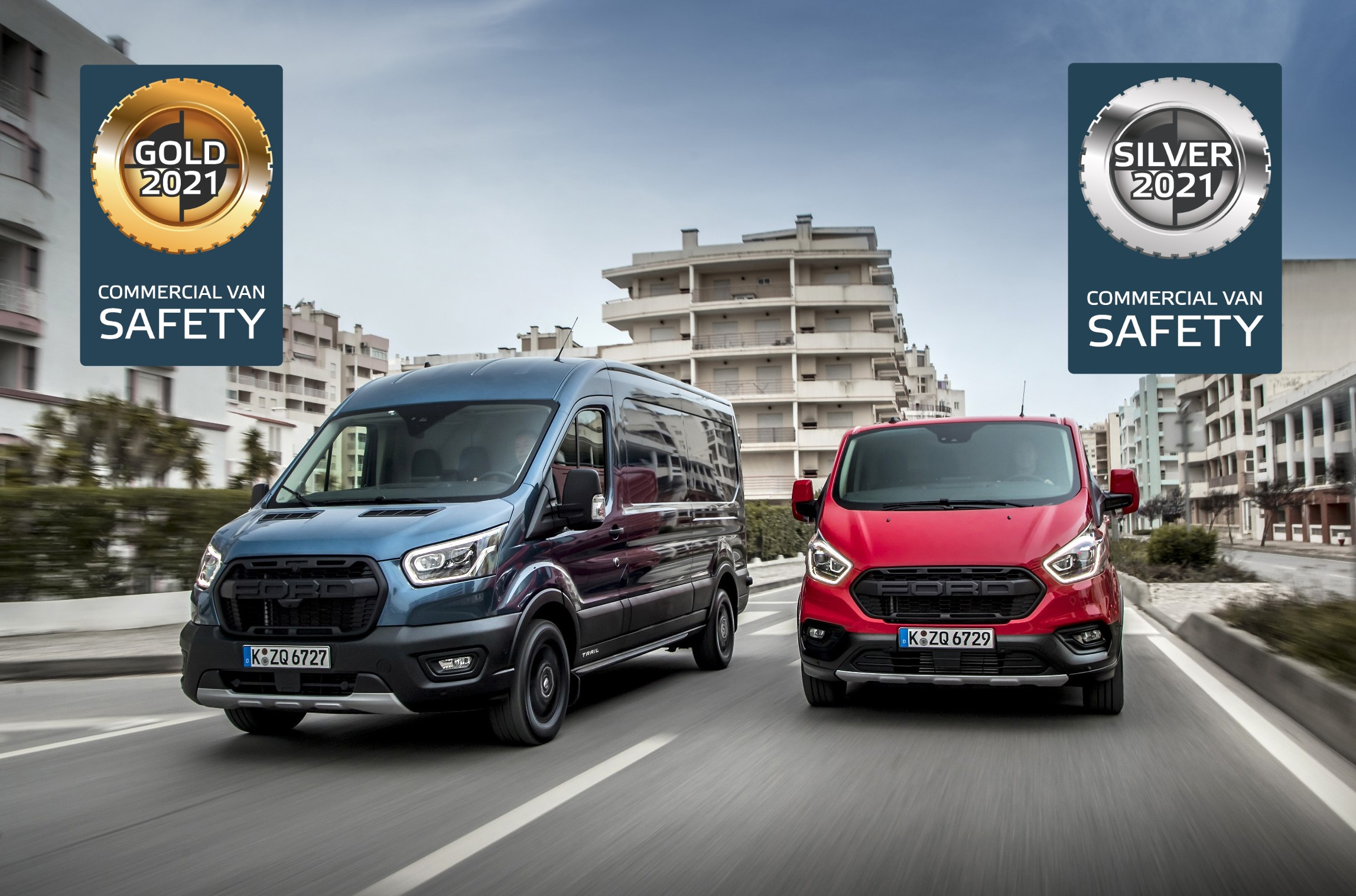 Ford Transit And Transit Custom Both Excel In Euro NCAP's