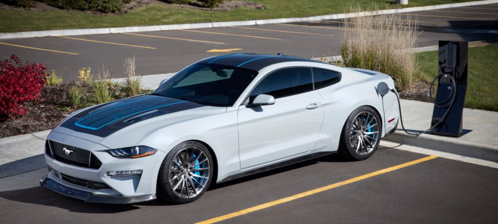 Ford Shines at SEMA with Mustang EV