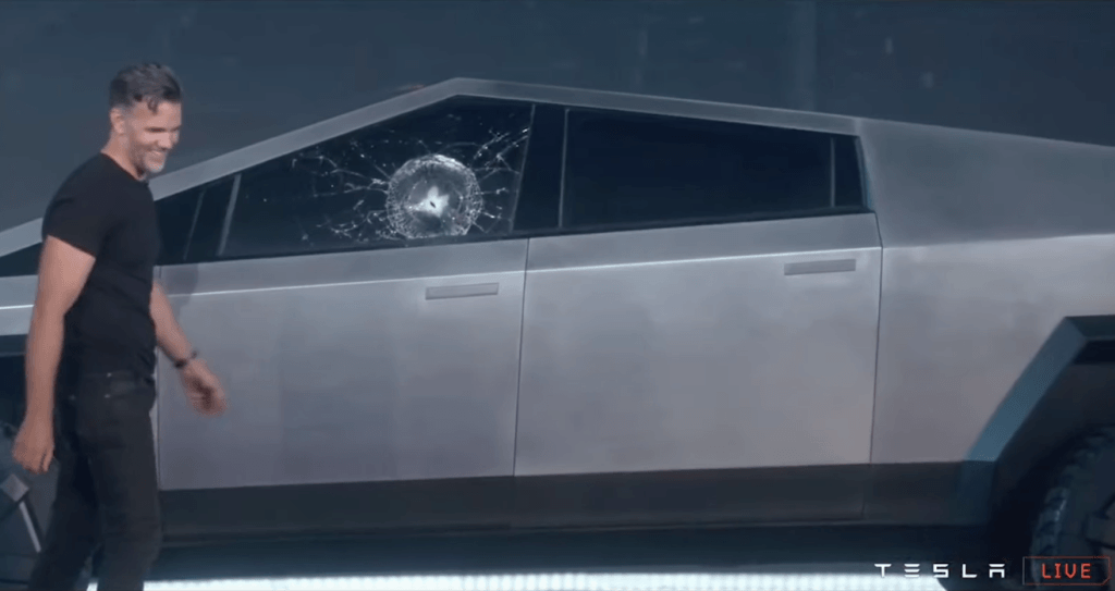 Unbrakeable Glass Shatters at Tesla Cybertruck Launch