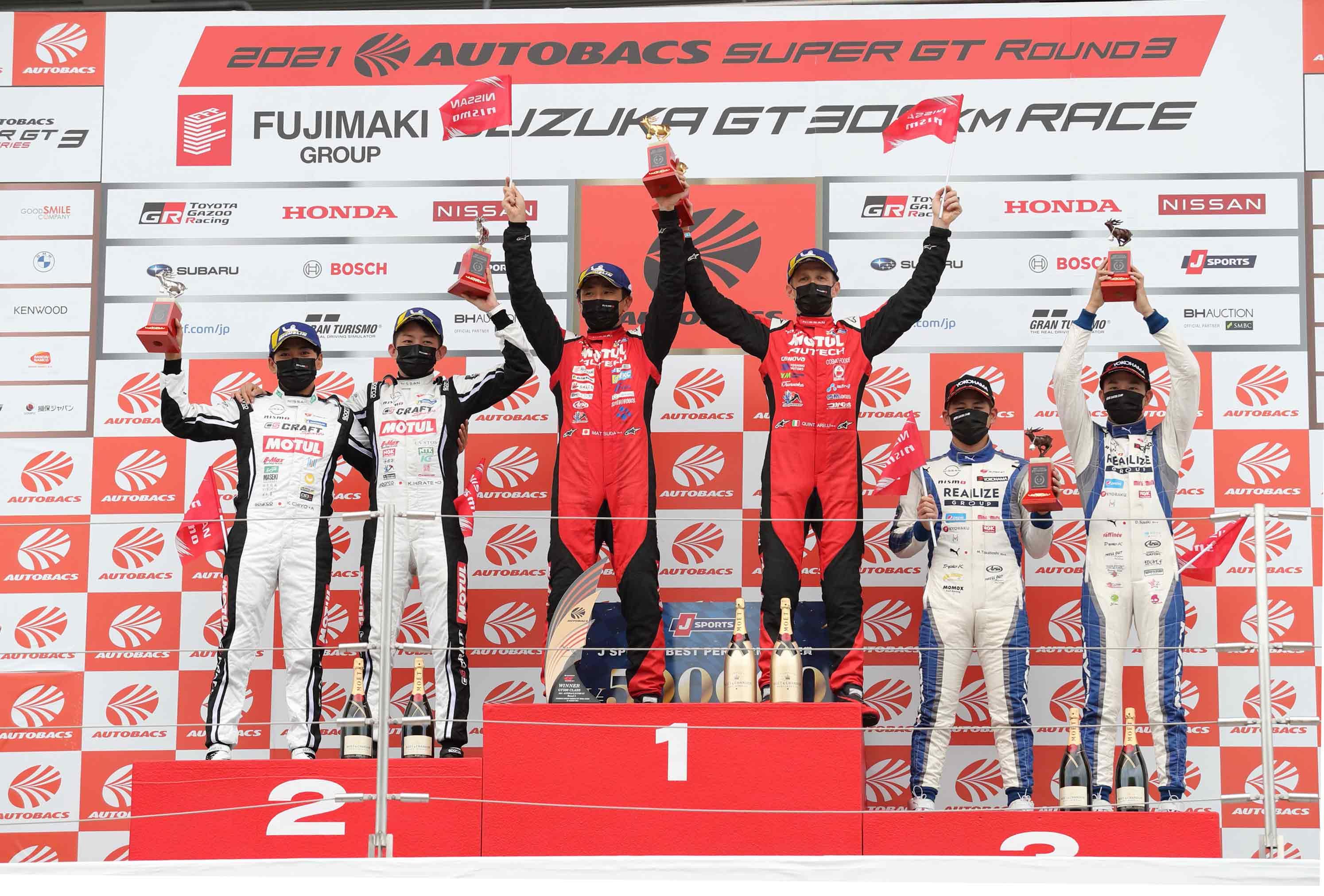 Nissan GT-Rs dominate the podium at Suzuka