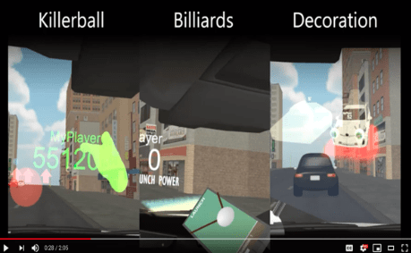 Research Team Develop Games that can be Played in Autonomous Cars