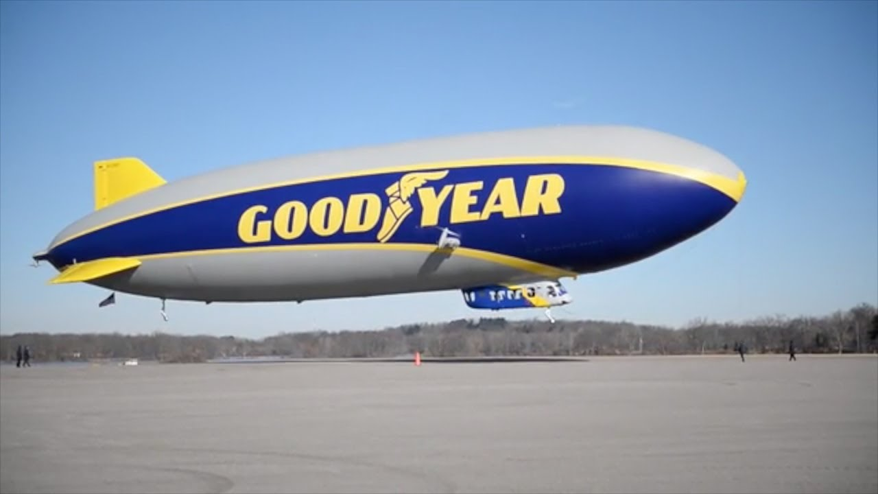 Goodyear Blimp becomes Member of College Football Hall of Fame