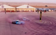 Stunt Drivers Create Worlds Largest Tire Mark to Spread Awareness of Breast Cancer