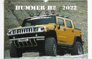The HUMMER H2 2022 calendar