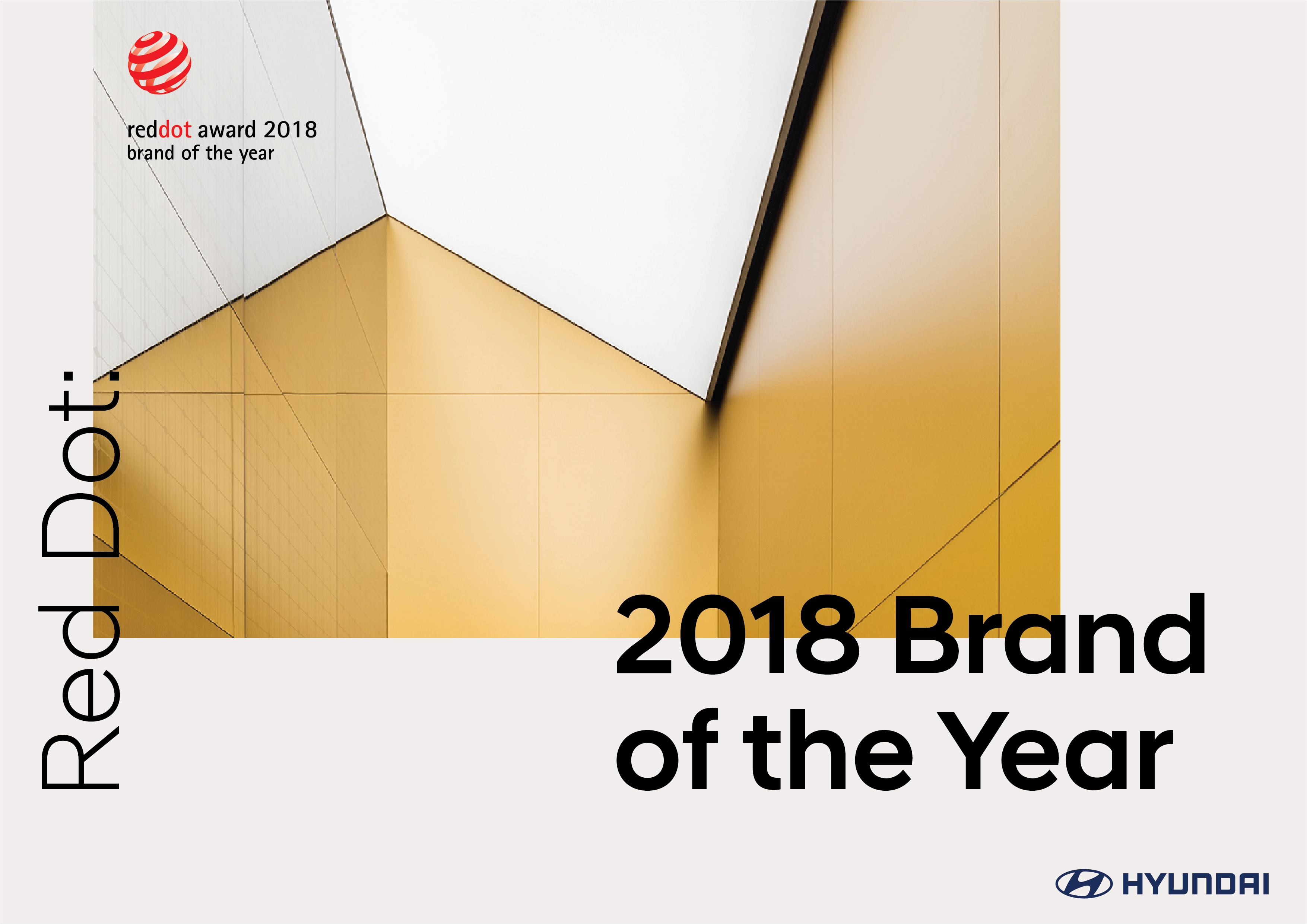 "Hyundai Motor Wins ""Red Dot: Brand of the Year 2018"""