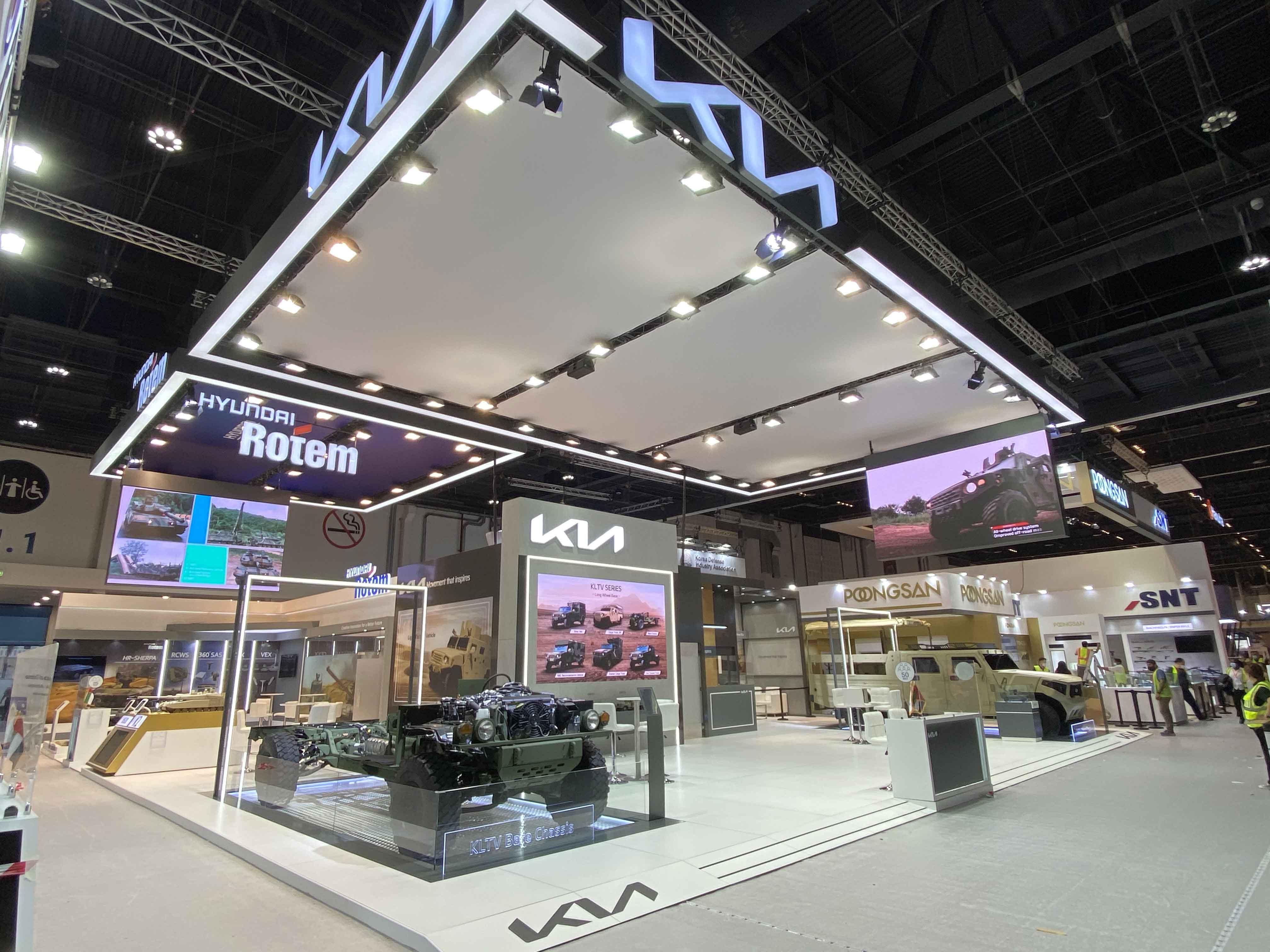Kia showcases new defense vehicle technologies  at IDEX 2021 defense exhibition