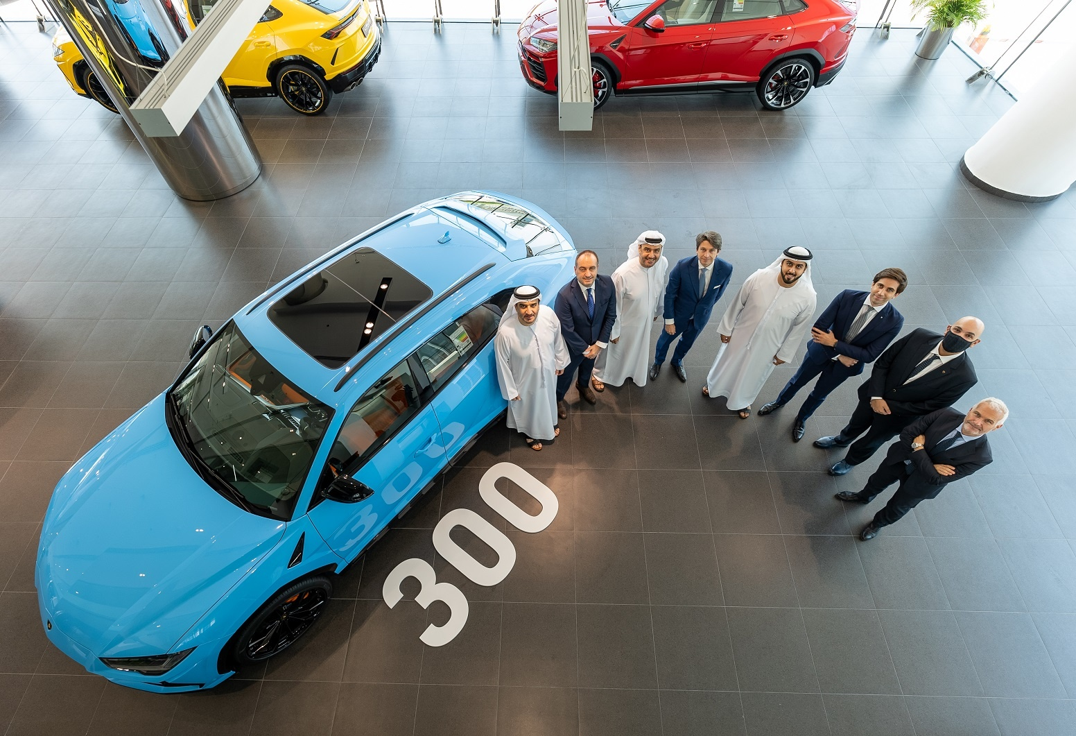 Lamborghini celebrates its 300th Urus sale in the UAE