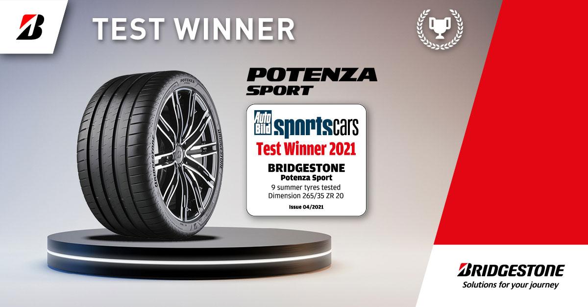 New Bridgestone Potenza Sport high-performance tyre helps drivers unlock full capabilities of their vehicle