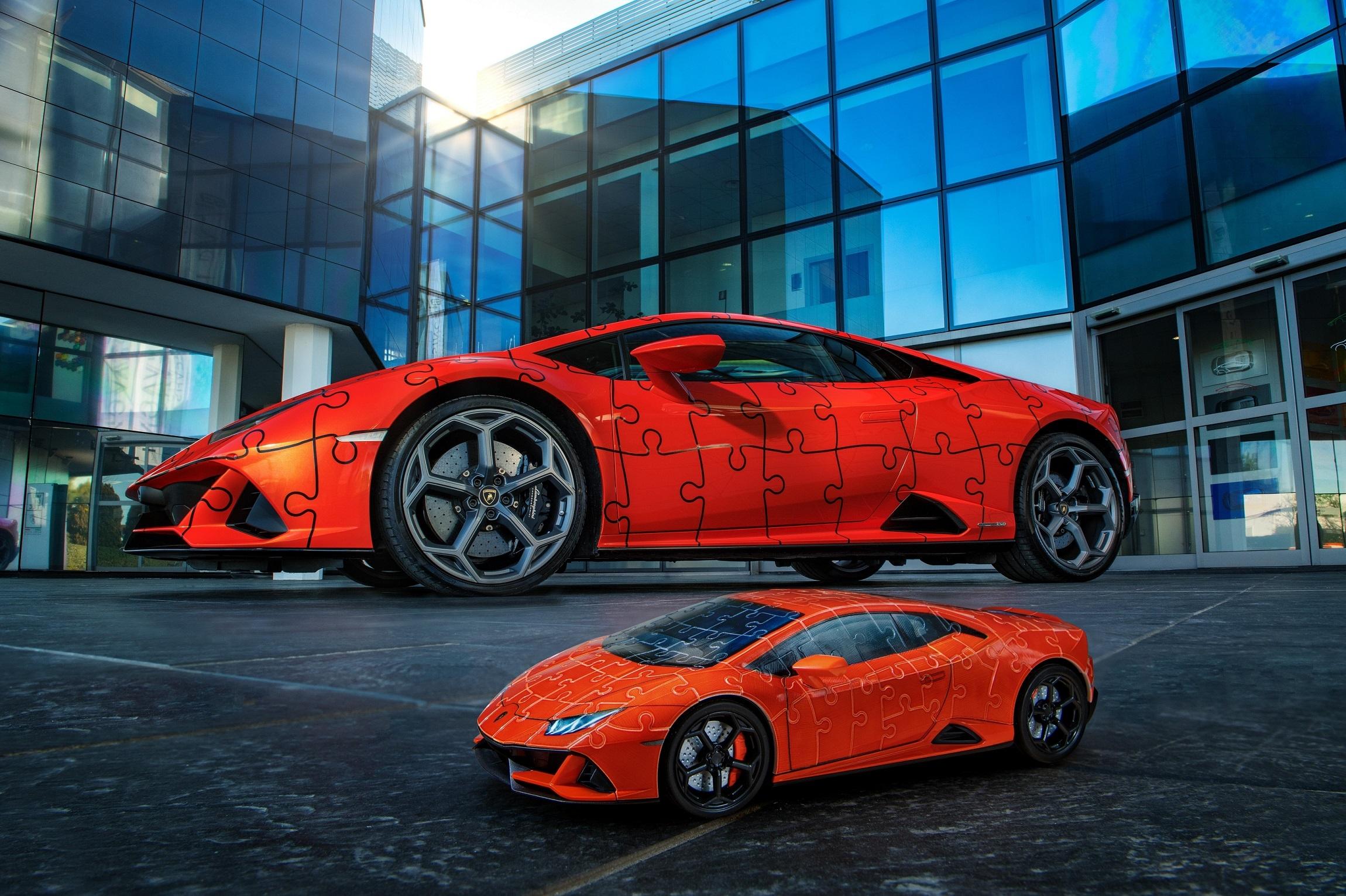 The Lamborghini Huracán EVO: build a super sports car in a 3D jigsaw puzzle