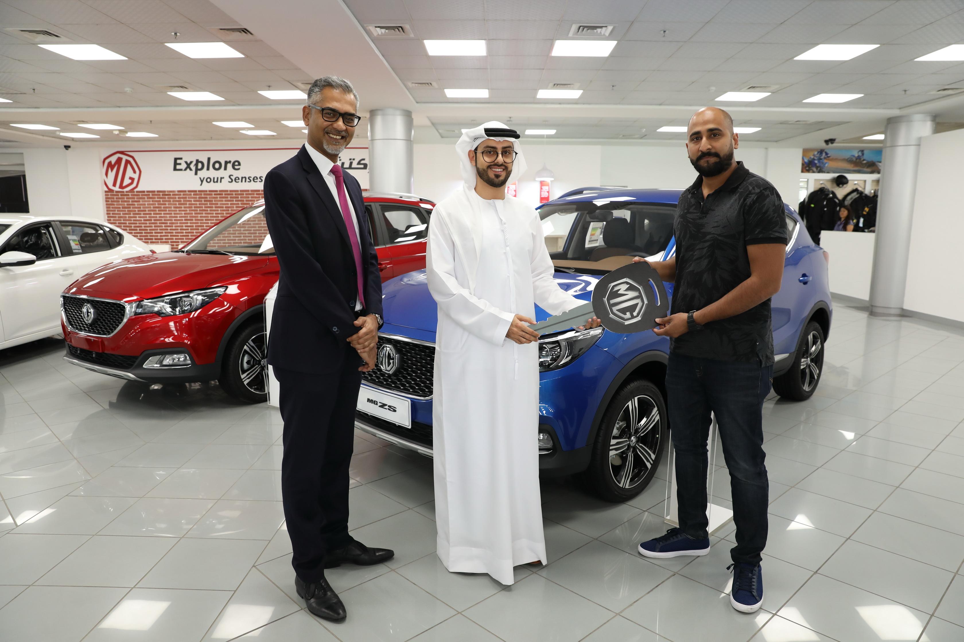 Kuwaiti Winner Drives Away with MG ZS at Gitex Shopper