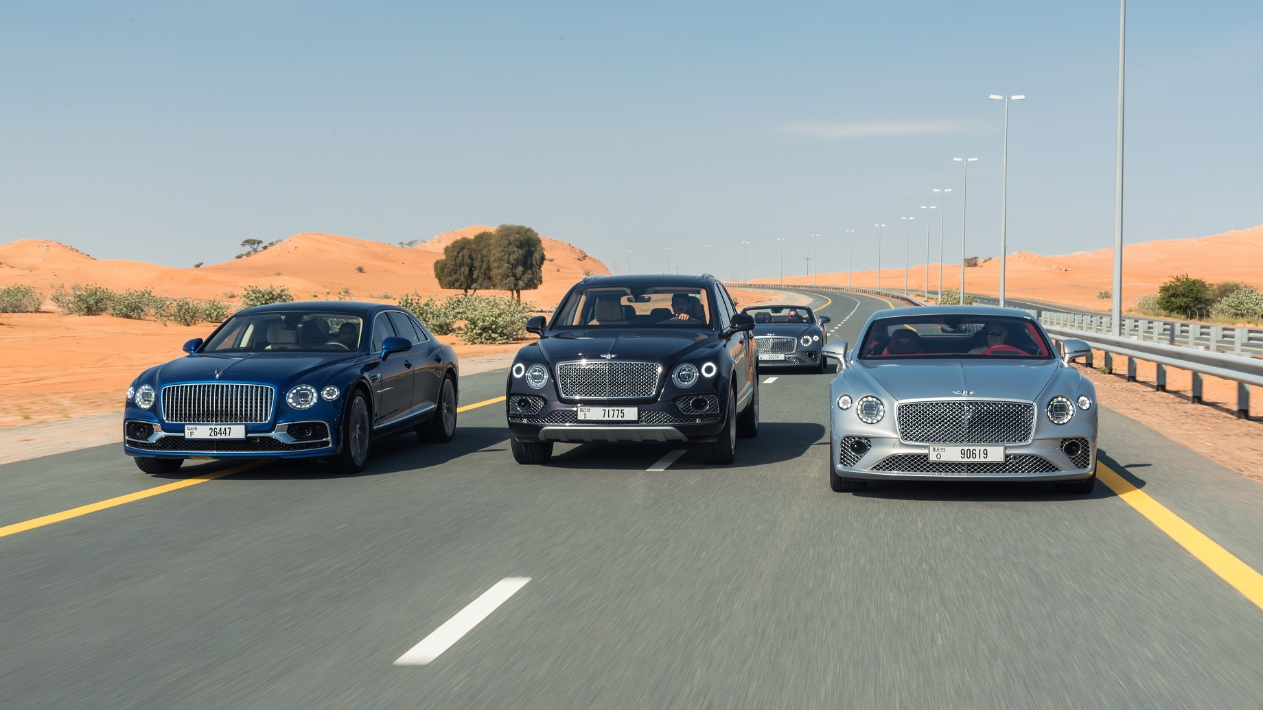 Bentley Completes Centenary Celebrations with Landmark Gathering of 100 Cars in Dubai