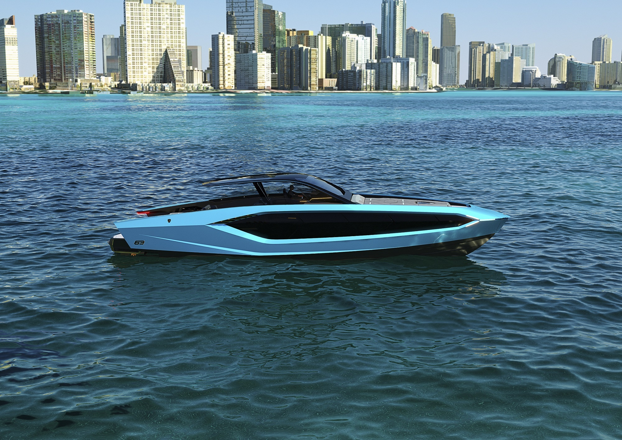 Automobili Lamborghini and The Italian Sea Group unveil the motor yacht 'Tecnomar for Lamborghini 63'