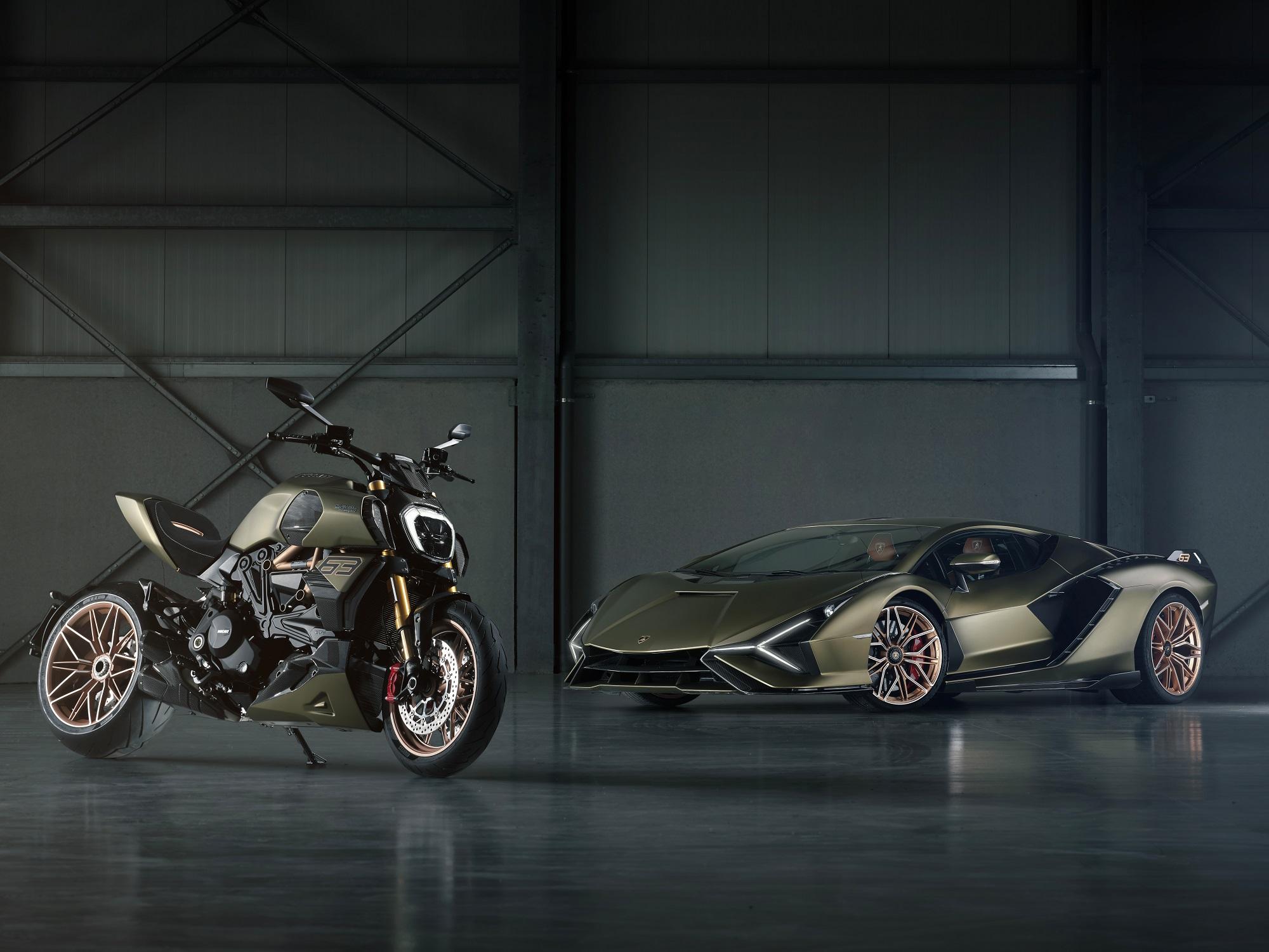 Ducati Diavel 1260 Lamborghini, inspired by the Sián FKP 37