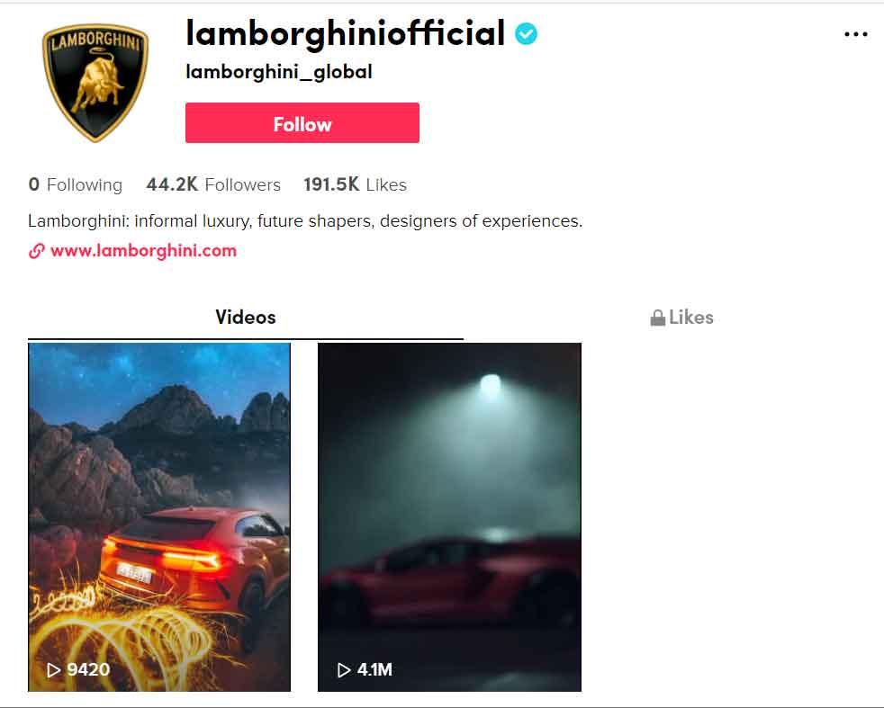 Automobili Lamborghini is on TikTok