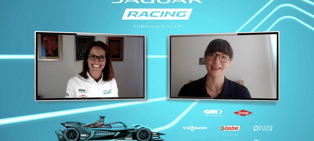 Jaguar racing celebrate international women in engineering day with bespoke re:charge @ home podcast