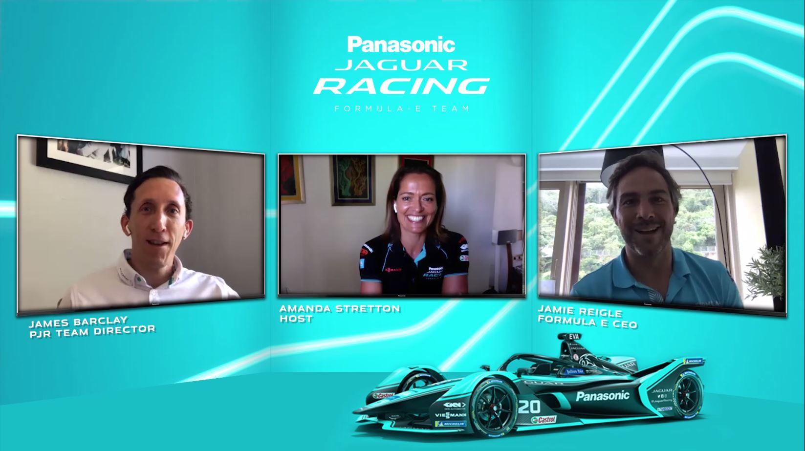FORMULA E CEO JAMIE REIGLE JOINS RE:CHARGE @ HOME - PANASONIC JAGUAR RACING'S VIDEO PODCAST SERIES