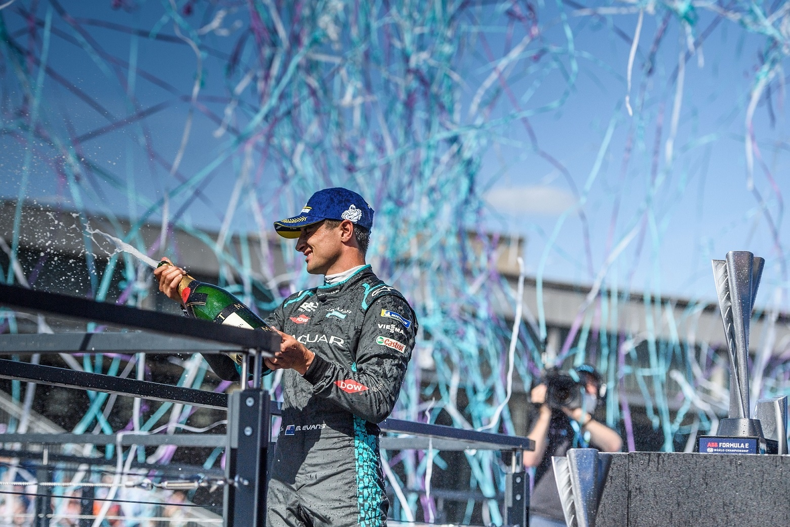 Mitch Evans Secures His Fifth Podium For Jaguar Racing To Take The Lead In The Formula E Teams' Standings