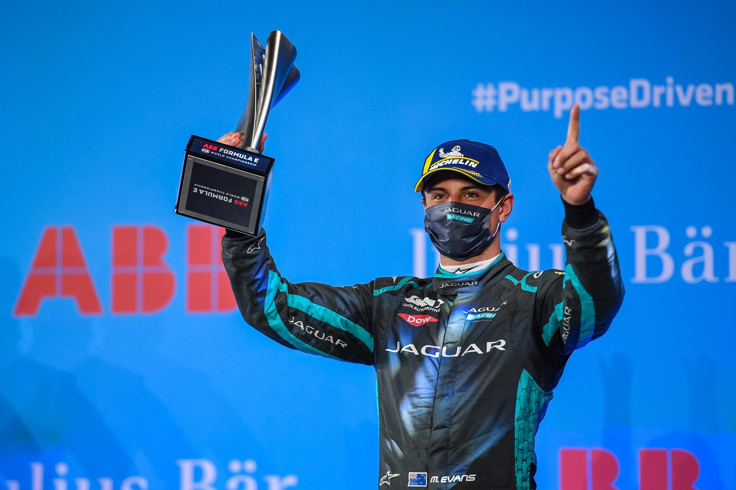 Podium finish for mitch evans & jaguar racing under the lights at the diriyah e-prix