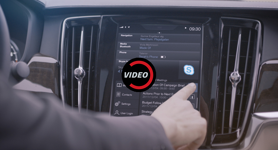 Volvo Becomes First Car Manufacturer to Offer Skype In Cars