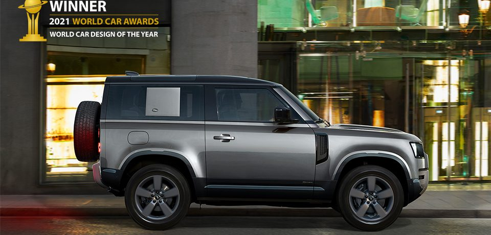 Land rover defender crowned 2021 world car design of the year