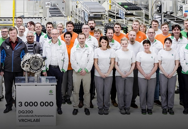 Skoda Auto Achieves Milestone of 3 Million DQ200 Automatic Gearboxes at Vrchlabi Factory