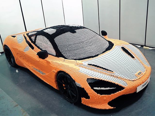McLaren Celebrates Launch of McLaren 720S with Life Sized Lego Model
