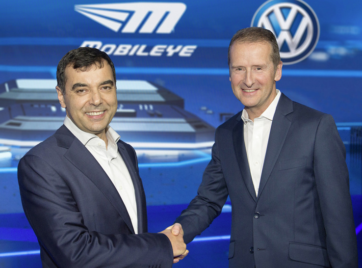 Volkswagen to work with Mobileye on Selfdriving technology