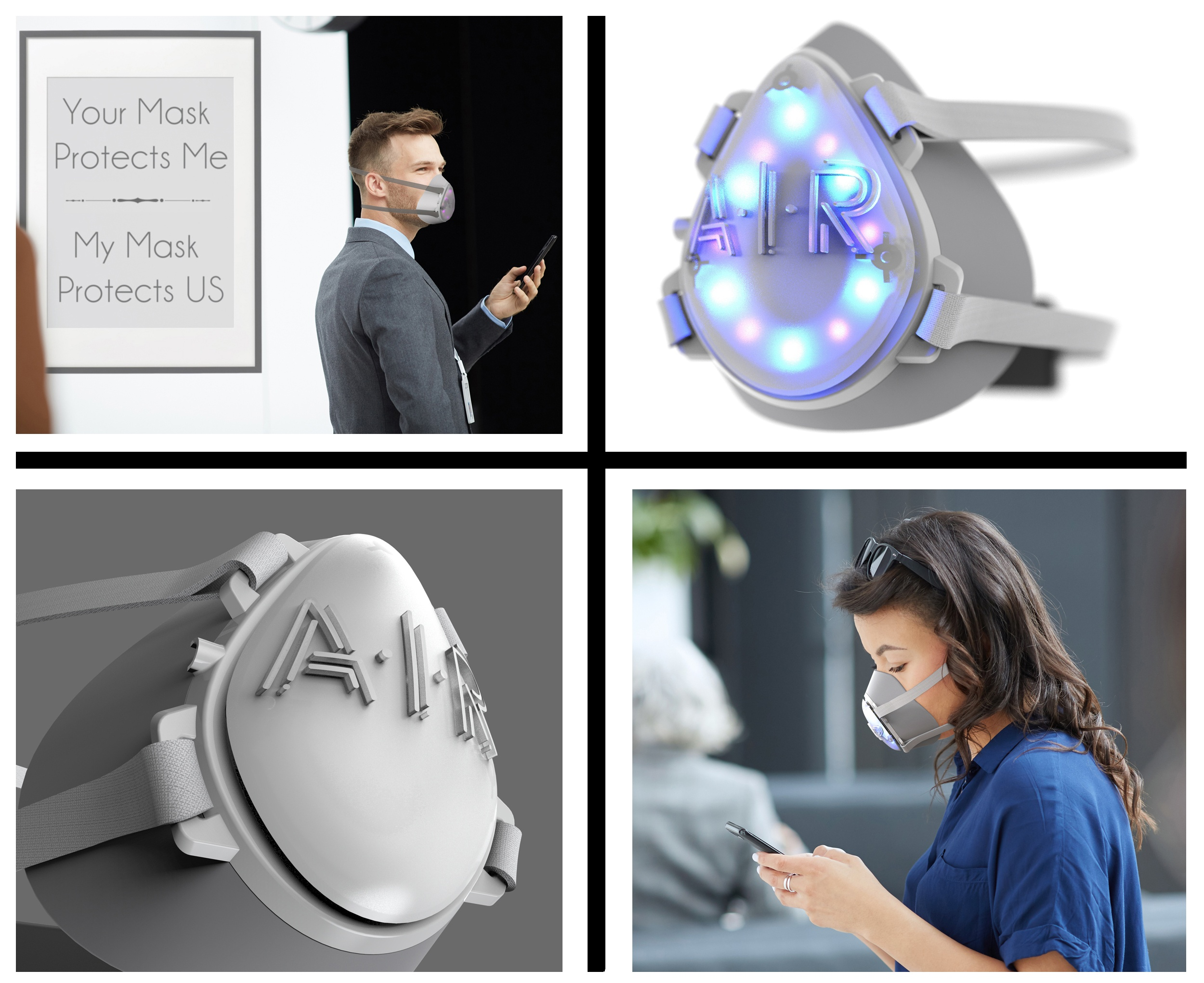 The Latest Weapon in the COVID-19 Battle - The A.I.R. Solo™ Virus Killing UV-Light Face Mask