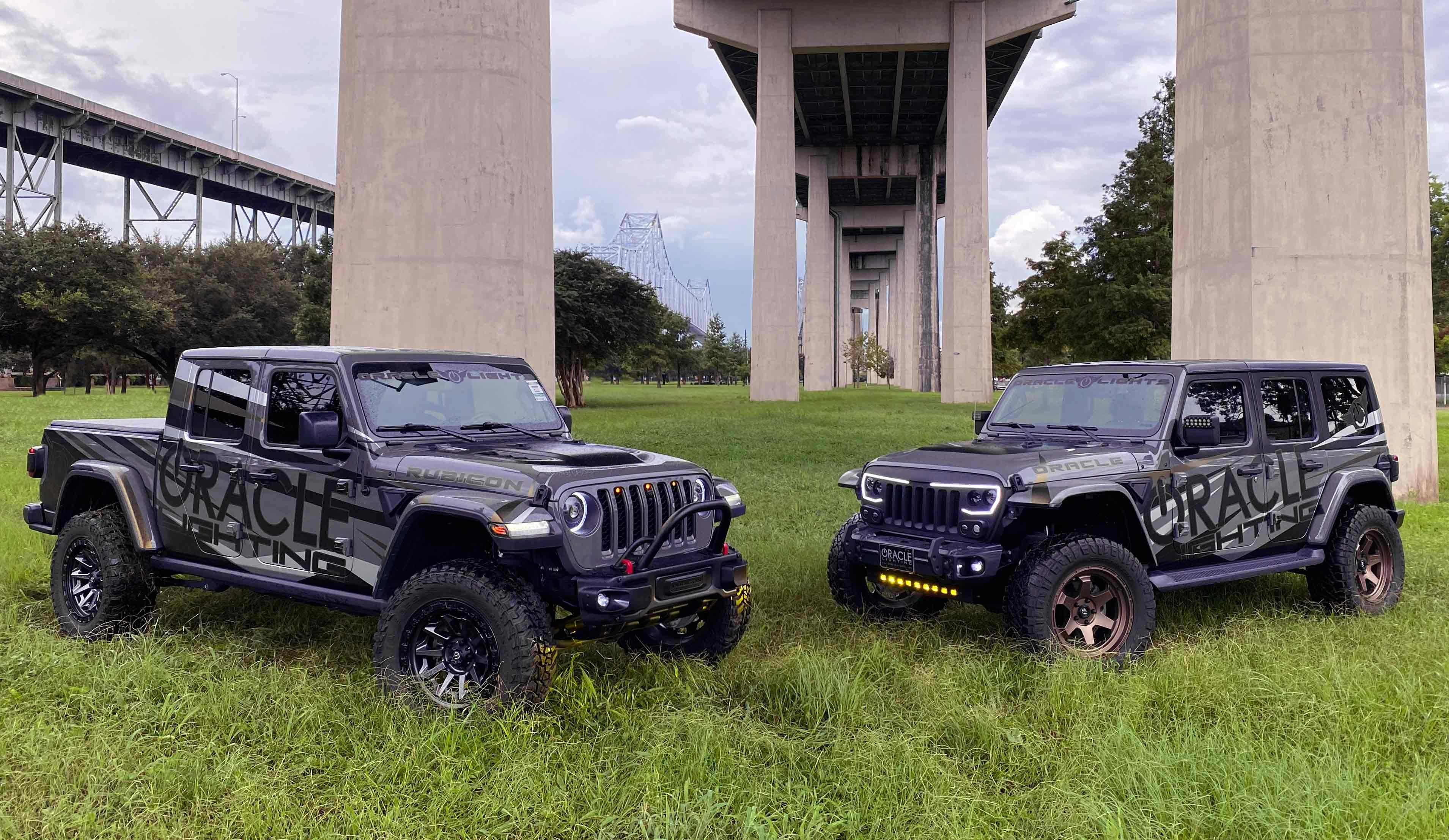 Oracle Lighting Unveils New Jeep Wrangler  & Jeep Gladiator Demo Vehicles