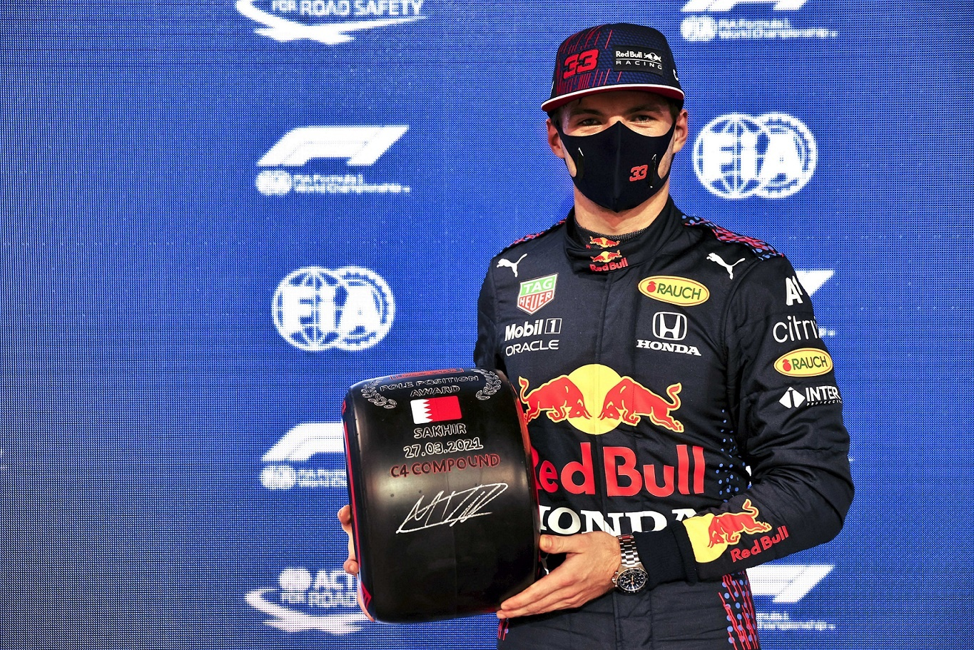 Formula 1 Gulf Air Bahrain Grand Prix 2021   P Zero Red Soft C4 Delivers Fourth Career Pole For Verstappen