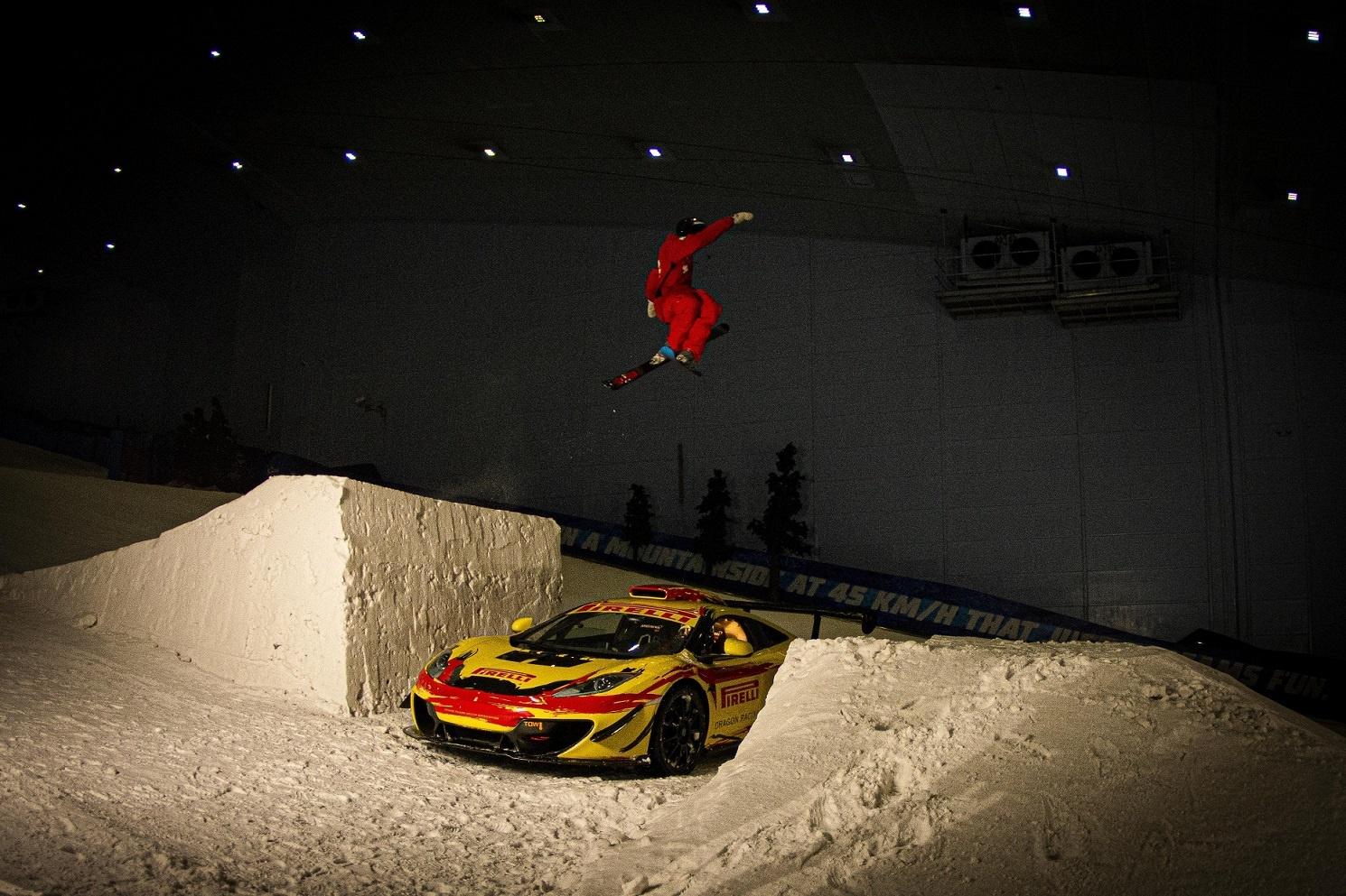 Pirelli Pulls off Incredible Stunt at Ski Dubai