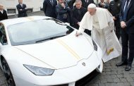 Lucky Winner could Get Lamborghini Meant for the Pope through Raffle Draw
