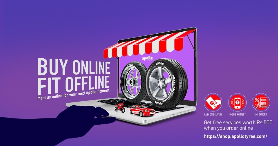 Apollo Tyres launches e-commerce portal for passenger car and two-wheeler tyre customers