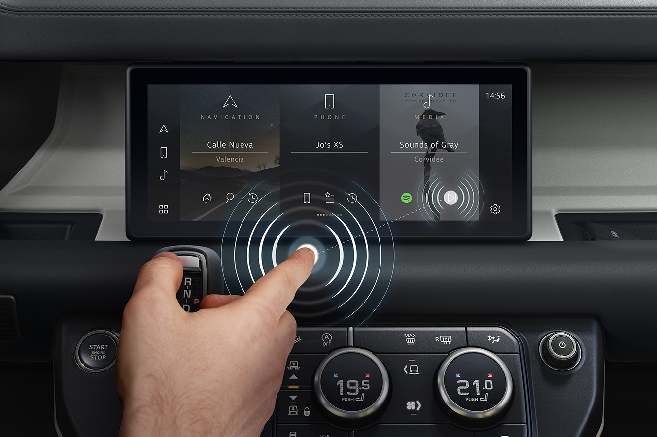 JAGUAR LAND ROVER DEVELOPS CONTACTLESS TOUCHSCREEN TO HELP FIGHT BACTERIA AND VIRUSES