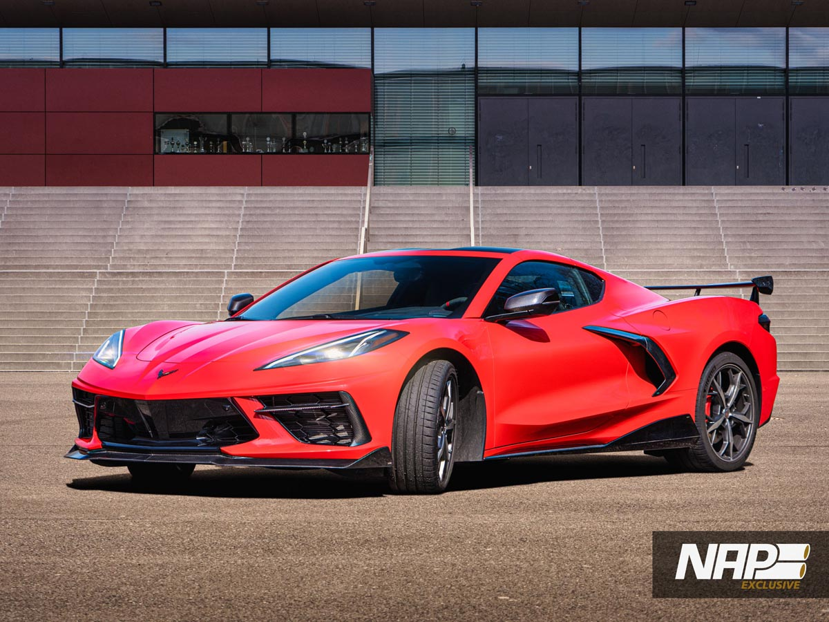 C8 Stingray by NAP Carbon styling and a stainless-steel exhaust system for mid-engine Corvette