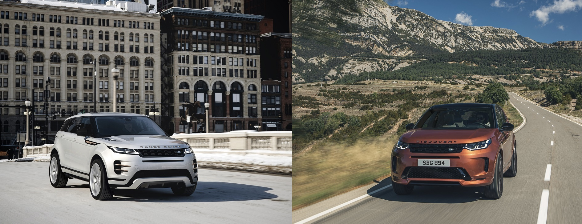 Refined special editions, new infotainment and electrified engines now available for evoque and discovery sport