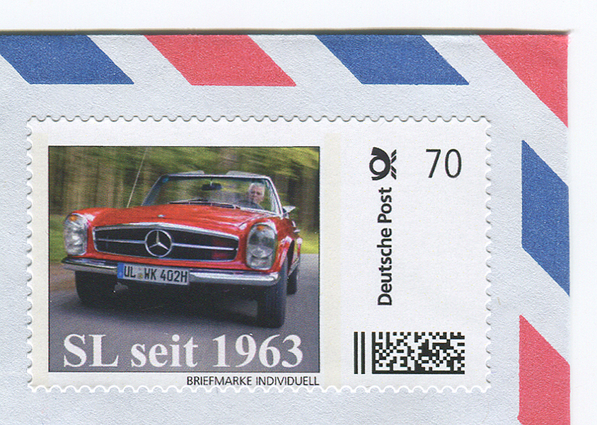 "Postage Stamp Issued to Celebrate Mercedes ""Pagoda"" SL"