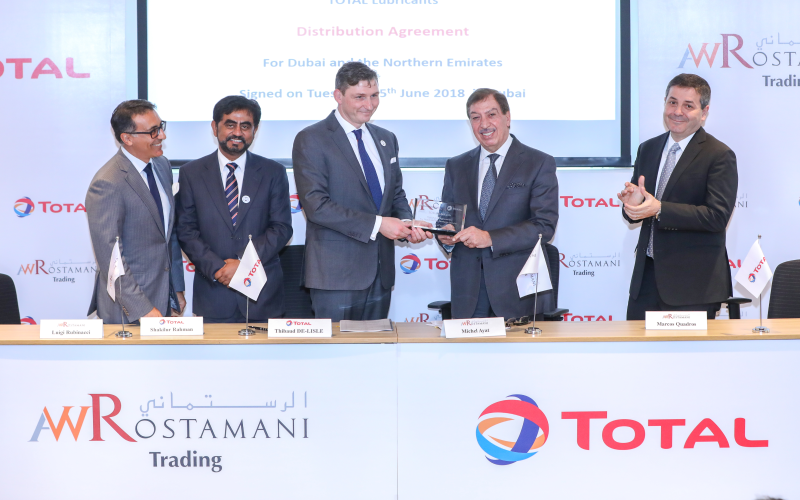 Total Announces AW Rostamani as New Distributor Partner