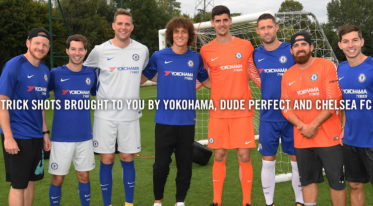 Yokohama Makes Football Video with Chelsea Players and Dude Perfect to Boost Brand