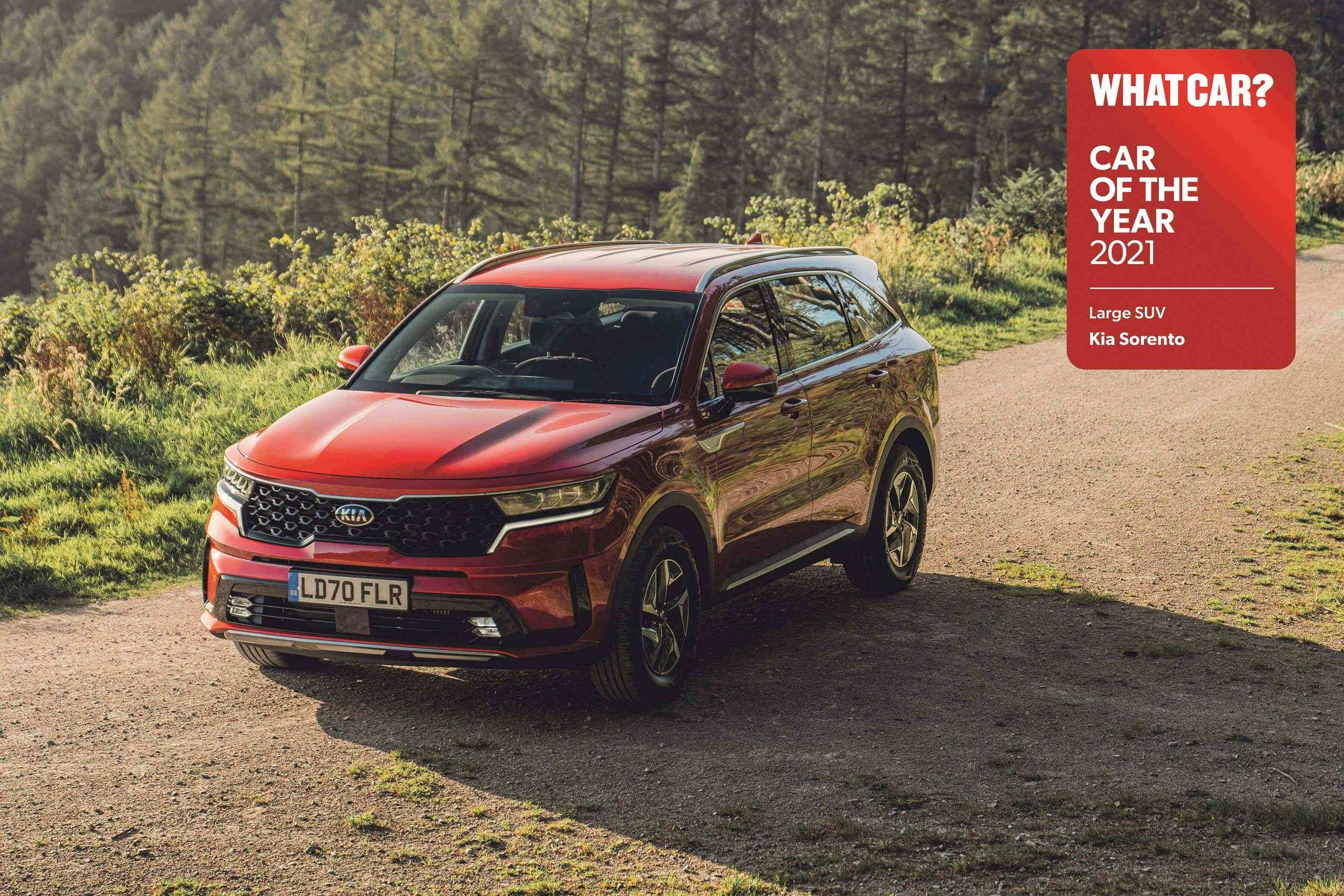 All-new Sorento wins 'Large SUV of the year' at 2021