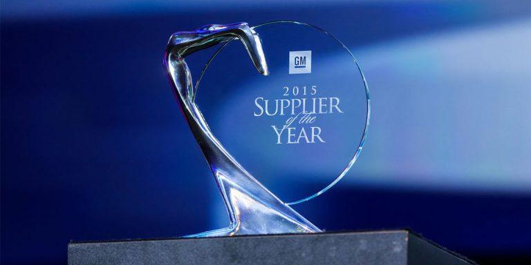 Bridgestone Bags 2016 Supplier of the Year Award from General Motors